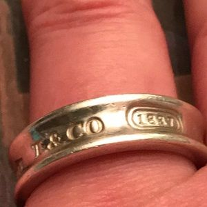 TIFFANY & CO. STERLING 1837 CONCAVE RING